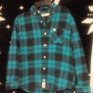 Abercrombie Kids Plaid Button Flannel